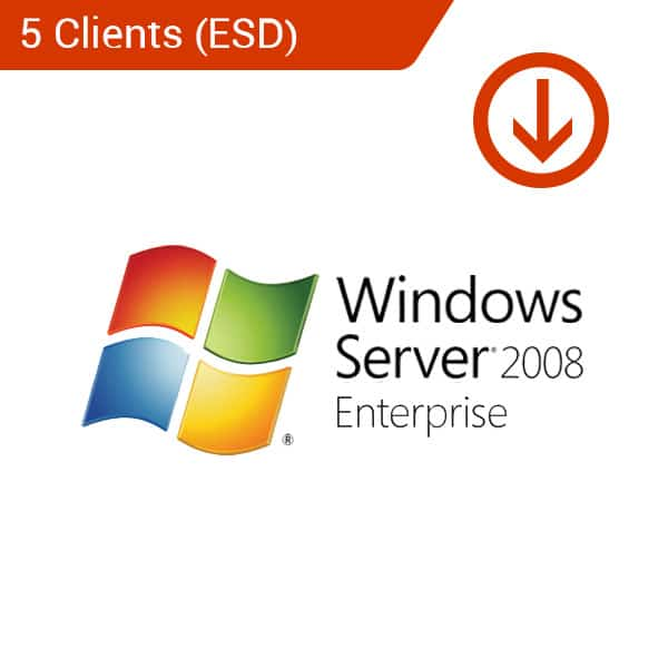 microsoft windows server 2008 standard 5 client esd