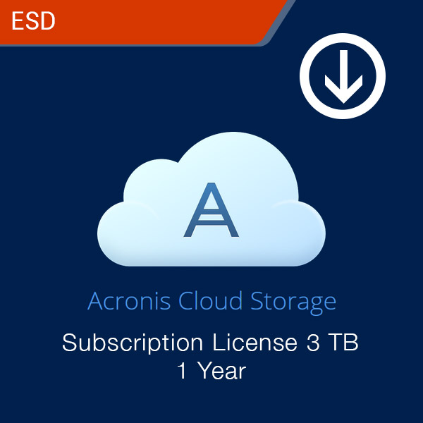 acronis cloud storage subscription license 3 tb 1 year