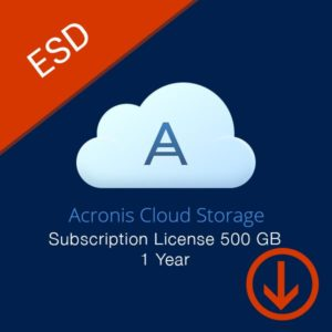 acronis cloud storage subscription license 500 gb 1 year